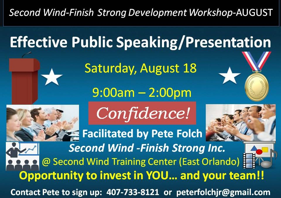 """Effective Public Speaking and Presentation with Confidence"" workshop"