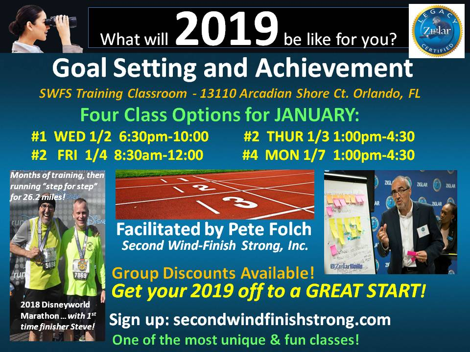 Goal Setting and Achievement – JANUARY CLASS #3