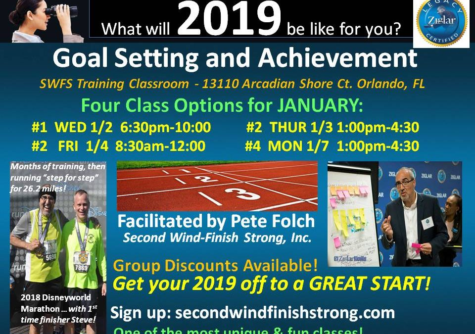 Goal Setting and Achievement – JANUARY CLASS #4
