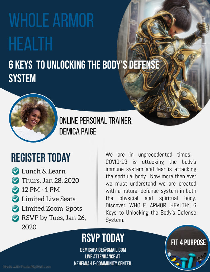 Lunch & Learn Presentation – Whole Armor Health: 6 Keys to Unlocking the Body's Defense System